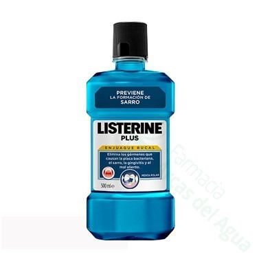 LISTERINE PLUS ANTIPLACA ANTISARRO ANTISEPTICO BUCAL 500 ML