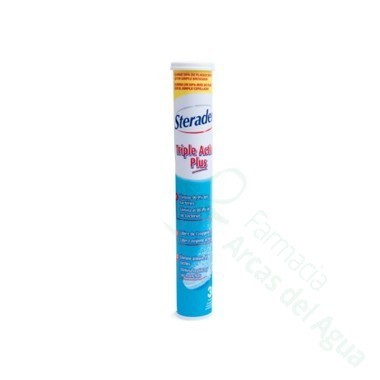 STERADENT TRIPLE ACCION PLUS LIMPIEZA PROTESIS DENTAL 30 COMP