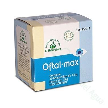 OFTALMAX INFUSION EL NATURALISTA LAVADO DE OJOS 10 BOLSITAS 1.5 G
