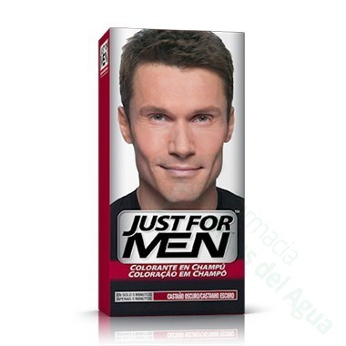 JUST FOR MEN CHAMPU COLORANTE 30 CC CASTAÑO OSCURO