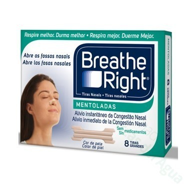 BREATHE RIGHT TIRA NASAL BALSAMICA T- PEQ-MED 8 U