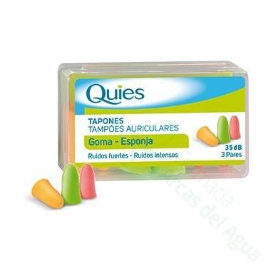 QUIES TAPONES OIDOS GOMA 6 U