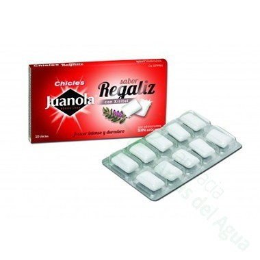 JUANOLA CHICLE REGALIZ 14 G