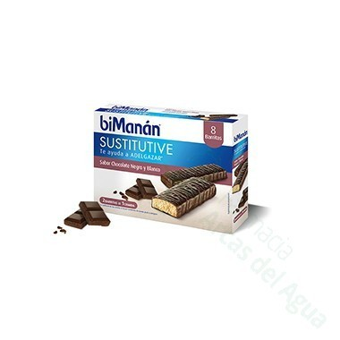 BIMANAN BARRITA CHOCOLATE NEGRO Y BLANCO 320 G 40 G X 8 U