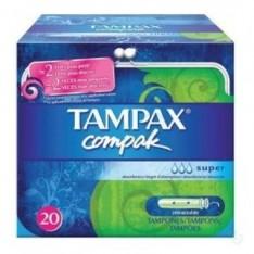 TAMPON TAMPAX COMPAK SUP PL 20