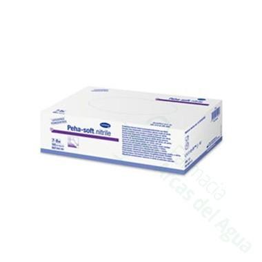 GUANTES DESECHABLES DE NITRILO PEHA-SOFT NITRILE T- MED 100 U