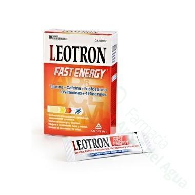 LEOTRON FAST ENERGY SOBRES BUCODISPERSABLES 10 SOBRES