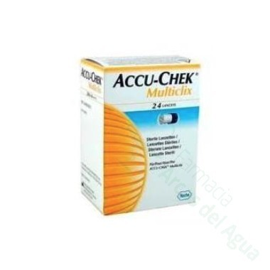 ACCU-CHEK MULTICLIX LANCETAS 24 LANCETAS