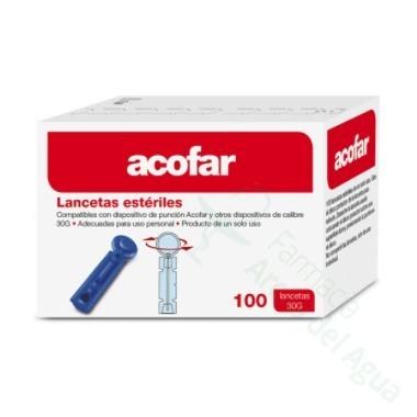 ACOFAR LANCETAS ESTERILES 100 LANCETAS