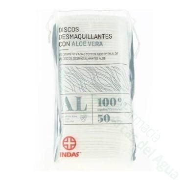 INDAS DISCOS DESMAQUILLANTES CON ALOE VERA 50 U