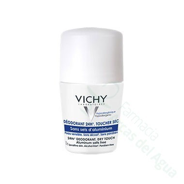 DESODORANTE 24 H SIN SALES DE ALUMINIO VICHY ROLL ON 50 ML