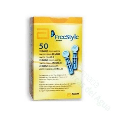 LANCETAS FREESTYLE 50 U