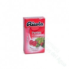 RICOLA PERLAS SIN AZUCAR FRESA 25 G