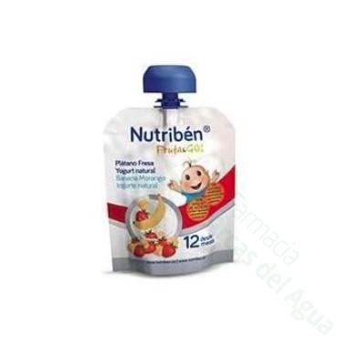 NUTRIBEN FRUTA & GO PLATANO FRESA YOGURT NATURAL 90 G