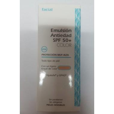 EMULSION ANTIEDAD SPF 50 CON COLOR