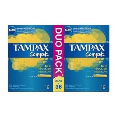 TAMPAX COMPAK REGULAR 36 UDS