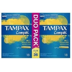 TAMPAX COMPAK REGULAR 36 UDS