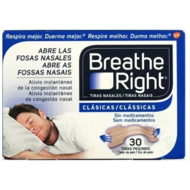 BREATHE RIGHT TIRA ADH NASAL COLOR T- PEQ-MED 30 U