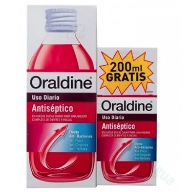 PACK ORALDINE ANTISEPTICO 400 ML +200 ML