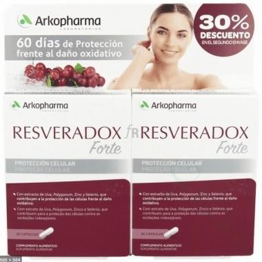 PACK RESVERADOX FORTE 30 CAPS X2