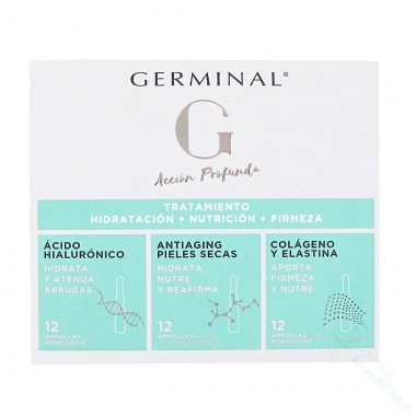 GERMINAL ACCION PROFUNDA TRATAMIENTO HIDRATACION + NUTRICION + FIRMEZA 36 AMPOLLAS